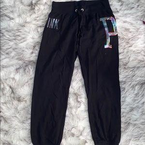 Victoria's Secret PINK Bling Crop Sweatpants